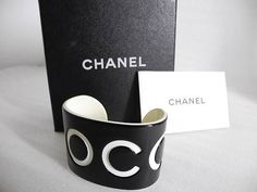 Authentic Vintage CHANEL Black and White COCO by LadyDangerVintage, $599.00