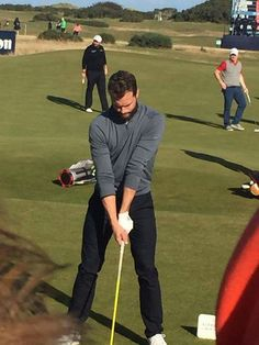 Jamie Dornan at Dunhill Links Golf Tournament 8th Oct 2016