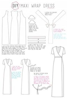 DIY Maxi Wrap Dress - 10 Fashionable DIY Dress Sewing Patterns Perfect for Every Body Shape Fashion loading. DIY Maxi Wrap Dress – 10 Fashionable DIY Dress Sewing Patterns Perfect for Every Body Shape Previous Post Next Post Maxi Wrap Dress, Diy Dress, Wrap Dresses, Diy Maxi Skirt, Make A Dress, Dresses To Sew, Dress Ideas, Dinner Dresses, Pillowcase Dresses