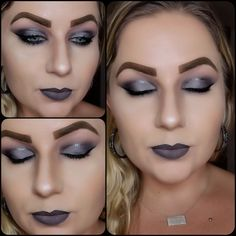 Santa Monica Palette by Jcat Beauty, Palette by morphe and dare to create palette with urban decays gun metal razor sharp liner in the crease. Makeup Looks 2018, Morphe, Santa Monica, Urban Decay, Gun, Palette, Lipstick, Create, Metal