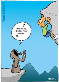Cartoon #atemlos durch die nacht