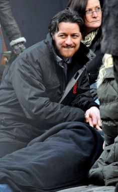 "'Filth'  James McAvoy rehearses on the set of his new film ""Filth"" on February 15, 2012 in Edinburgh, UK. The scene involved James McAvoy's character trying to save a dying man.  (Photo by FameFlynet Pictures)"