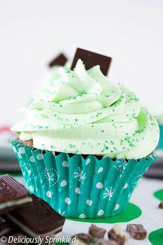 Homemade Minty Chocolate Cupcakes