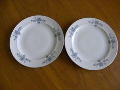 Winterling Schwarzenbach Bavaria Porcelain blue flowers 2 tea plates Wig 48