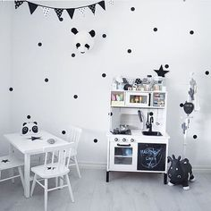 This super cute monochrome room has us all  Thanks for using our wall dots @charnelia80 xo