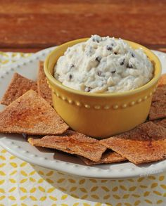 This lightened up Chocolate Chip Cannoli Dip is the perfect easy appetizer or dessert to serve at a party or make for yourself! www.emilybites.com