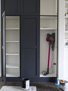 "Get great pointers on ""laundry room storage diy cabinets"". Get great pointers on ""laundry room storage diy cabinets"". They are actually accessible for you Kitchen Pantry Design, Kitchen Pantry Cabinets, Ikea Cabinets, Kitchen Storage, Garage Storage, Vacuum Storage, Wall Pantry, Pantry Diy, Closet Storage"