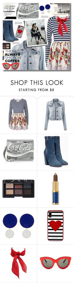 """Buzz-Worthy: Coffee Date"" by pesanjsp ❤ liked on Polyvore featuring Pinko, Dries Van Noten, NARS Cosmetics, Balmain, Joanna Laura Constantine, Kate Spade, Victoria Beckham and CoffeeDate"