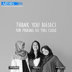 """See, what we can get from AIESEC is not just international experiences. But also a lot of new close friends! Don't know how to thank to this warm and also cool organization!"" - Nathasya, Vice President of Marketing and Communication.  AIESEC, connecting people since 1948. ‪#‎theperksofbeingAIESECer‬"