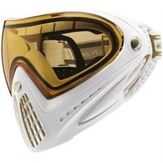 Dye Precision I4 Thermal Paintball Goggle - White/Gold. Available at UltimatePaintball.com
