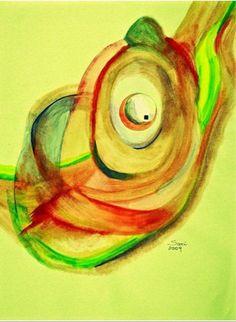 Abstract Watercolor Reproduction on Paper 12 by awakeningartbysari, $59.99