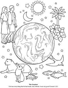 6 days of creation pictures pages of coloring book have