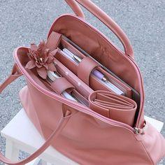 große business handtaschen leder rosenholz nude elfenklang