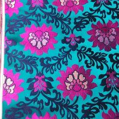 #新 #花 #new #pattern #3 #three #flower #brocade #green #black #lightgreen #hangzhou #silk #china #dark #green #back #with #梅红 #(在 jiankang Rd155# chenxiang fabric store)