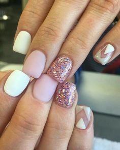 Gel nail designs for short nails best 25 short gel nails ideas with additional luxury nail styles Cute Gel Nails, Short Gel Nails, Pink Nails, Pretty Nails, My Nails, Matte Pink, Nail Gel, Girls Nails, Oval Nails