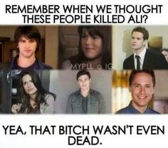 Find images and videos about pretty little liars, pll and a on We Heart It - the app to get lost in what you love. Pll Quotes, Pll Memes, Funny Quotes, Netflix Quotes, Pretty Little Liars Meme, Preety Little Liars, Pretty Little Liars Theories, Tessa Thompson, Bruce Banner
