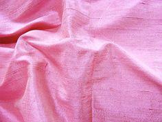 "Thai Silk Dupioni - Pearl Pink (Iridescent pink with light cream). 100% Silk. 44"" wide. Dry clean. Priced per yard."