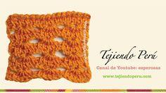 Punto fantasía  # 2 tejido en ganchillo tunecino (+lista de reproducción)