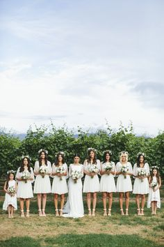 Love how the junior bridesmaids/flower girls are set up in this shot. Great wedding photo idea