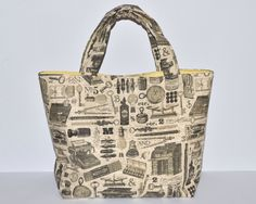 Women's Handbag, Tote Bag, Handmade Bag, Contains Pocket & Magnetic Button Closure, Vintage Style Fabric, Gift for Writer, Writer's Bag by RachelMadeBoutique on Etsy https://www.etsy.com/listing/268360084/womens-handbag-tote-bag-handmade-bag