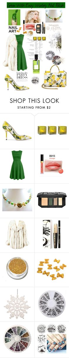 Green With Envy: Winetry Nail Polish by belladonnasjoy on Polyvore featuring beauty, Kat Von D, Diana Vreeland, L'Oréal Paris, I. Magnin, Dolce&Gabbana, Cultural Intrigue and Victoria Beckham