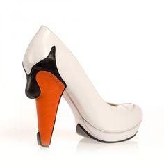 "Kobi Levi ""Swan"" Pumps, Weiß | Charity Heels #shoes"