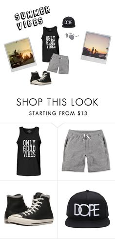 """""""Summer Vibes (Guys)"""" by alexking2456 ❤ liked on Polyvore featuring Polaroid, Converse, 21 Men, men's fashion and menswear"""