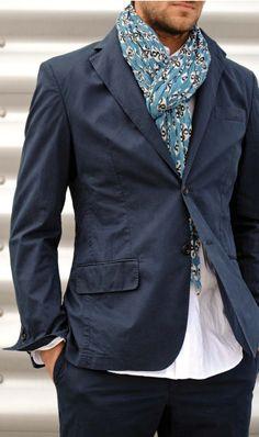 Casual blazer + scarf= win
