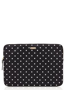 classic nylon mini pavillion dot laptop sleeve - kate spade new york