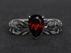 http://tipsalud.com garnet ring pear cut garnet engagement rings by XCjewelryStudio