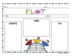 FREE---This is a graphic organizer for the skill: plot. We use this graphic organizer in class after we have read a story. Using the graphic organizer we can then retell the story Teaching Activities, Teaching Reading, Teaching Plot, Reading School, Teaching Ideas, 2nd Grade Writing, First Grade Reading, Reading Comprehension Skills, Reading Strategies