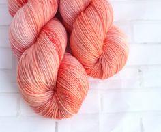 South Peach - MCN Sock Yarn - Coral Hand Dyed Yarn - Merino Cashmere Yarn -Fingering Hand Dyed Yarn -MCN Sock Yarn - Hand Dyed 4ply Yarn by ClementineAndThread on Etsy