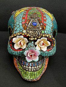Skulls: #Dia de Los Muertos #skull.