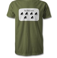 The SWAT team in military green, Order one. Swat, Green Tops, Military Green, Dark Colors, Fabric, Cotton, Mens Tops, T Shirt, Stuff To Buy
