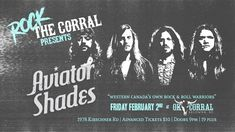 Aviator Shades at the OK Corral! OK Corral Cabaret​. Aviator Shades​. #ConcertTickets,#Canadianmusic, #KelownaMusic, #LiveMusicKelowna, #KelownaMusicNews, #OkanaganOnlineNewsMedia, #KamloopsMusicNews, #OkanaganMusicNews, #LocalMusicNews, #VernonMusicNews, #PentictonMusicNews, #VancouverMusicNews, #VictoriaMusicNews,