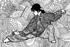 Coloring page Tai Chi