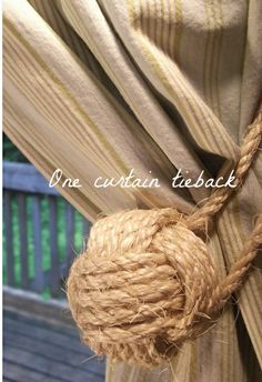 rope curtain tiebacks