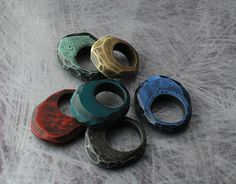 carved polymer rings | My problem with weakness at joints in… | Flickr