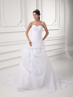 I like this dress Sweetheart Organza over Satin Princess Wedding Dress with Surplice Bodice from topwedding.com, really perfect gowns for any occasion wedding.
