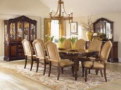 Wooden dining room furniture sets with 6 chairs and buffet | Home ...