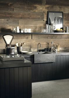 Kitchen trends 2019 stunning and surprising kitchen design trends and ideas for the new year is part of Industrial kitchen design If 2018 was all about inky blue cabinetry with copper and brass ac - Industrial Kitchen Design, Industrial House, Industrial Interiors, Interior Design Living Room, Modern Industrial, Industrial Bedroom, Rustic Industrial Kitchens, Stone Interior, New Kitchen