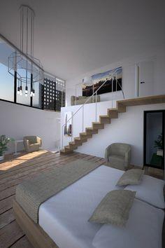 미니멀리스트 침실 by Chdarquitectura
