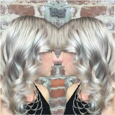 #KenraColor #MetallicObsession #VioletMetallic Step 1: Pre-lighten to a level 10 Step 2: Tone with VP Rapid Toner(1oz)+9 Vol.(2oz) for 5 mins to neutralize canvas Step 3: Create shadow by melting 8VM+10 Vol. at the root into 9VM+10 Vol. on the mid-lengths and ends.  Optional Step 4: Pastel overlay for 20 minutes using #KenraColorCreative White(10 grams) + Creative Violet(1 gram).