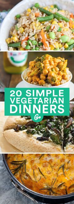 Fewer-Ingredients easy healthy vegetarian recipes, easy vegitarian dinner r Going Vegetarian, Vegetarian Dinners, Vegetarian Recipes Easy, Healthy Recipes, Vegetarian Cooking, Cooking Recipes, Simple Recipes, Vegetarian Italian, Easy Vegitarian Recipes