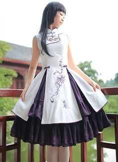 Mirror Canna * Chinese Wind Embroidery Classic Lolita Dresses, Classic Lolita Dress - Lolitauk.com