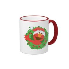 Elmo Wreath. Regalos, Gifts. Producto disponible en tienda Zazzle. Tazón, desayuno, té, café. Product available in Zazzle store. Bowl, breakfast, tea, coffee. #taza #mug