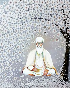 Guru Nanak Pics, Guru Nanak Photo, Religious Photos, Religious Art, Sikhism Religion, Evening Meditation, Fashion Figure Drawing, Punjabi Culture, Tribal Art