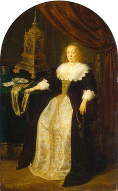 Frans van Mieris - Portret van een dame (1665)