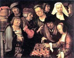 1508 Lucas van Leyden (Dutch artist, 1494-1533), Game of Chess.