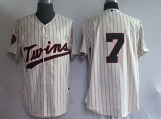 Mauer Cream Jerseys $18.99  This jersey belongs to Minnesota Twins  Color:cream Size: M, L, XL, XXL, XXXL  The jersey is made of heavy fabric with nylon diamond weave mesh